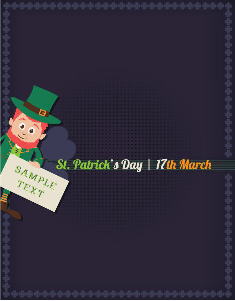 St. Patrick's day vector illustration with leprechaun Vector Illustrations floral