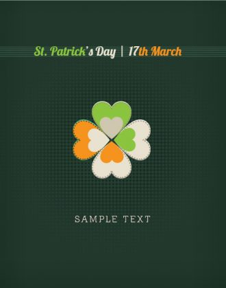 St. Patrick's day vector illustration with sticker clover Vector Illustrations floral