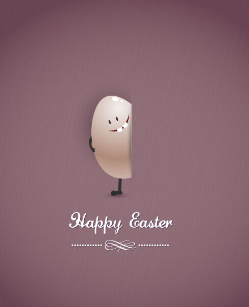 easter vector illustration with easter egg Vector Illustrations vector
