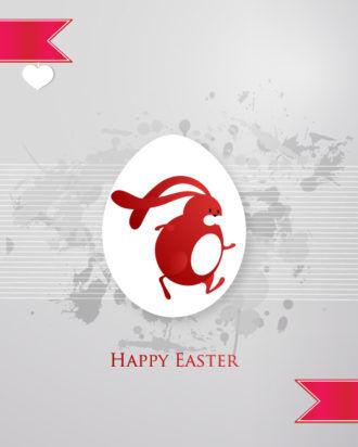easter vector illustration with sticker easter egg Vector Illustrations floral