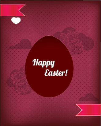 easter illustration with easter egg and ribbon Vector Illustrations vector