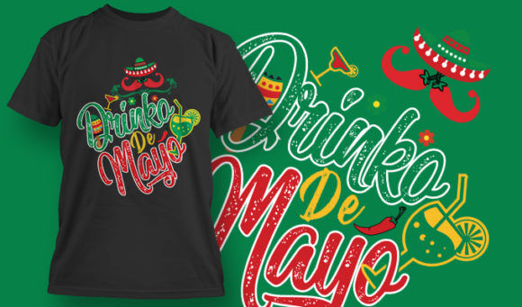 designious-tshirt-design-1517 T-shirt Designs and Templates t-shirt, vector, drinks, alcohol, 5th of may, cinco de mayo