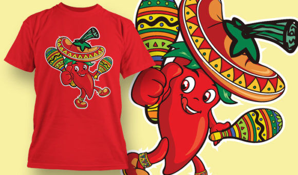 designious-tshirt-design-1519 T-shirt Designs and Templates t-shirt, vector, peper, hot, cinco de mayo