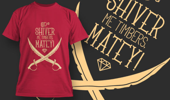 designious-tshirt-design-1457 T-shirt Designs and Templates t-shirt, vector, pirate, pop culture collection, swords