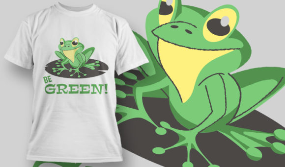 designious-tshirt-design-1462 T-shirt Designs and Templates t-shirt, vector, frog, be green, pop culture collection