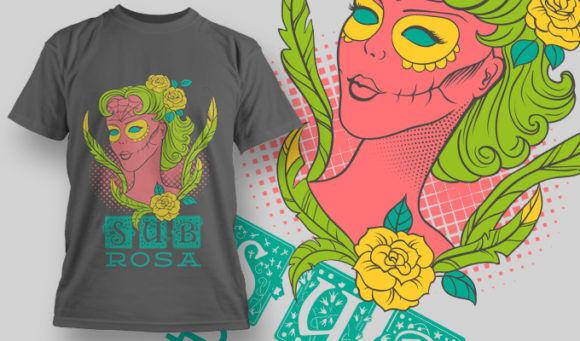 designious-tshirt-design-1465 T-shirt Designs and Templates t-shirt, vector, sugar skull, skull, female, lady skull