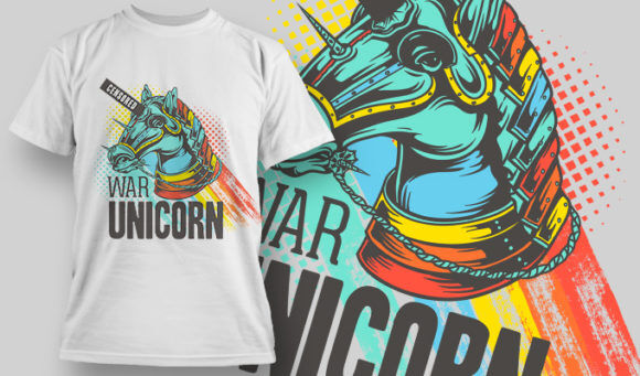 designious-tshirt-design-1469 T-shirt Designs and Templates t-shirt, vector, war unicorn, horse, pop culture collection, funny