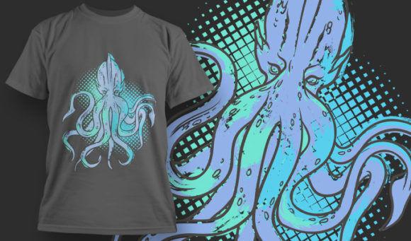 designious-tshirt-design-1471 T-shirt Designs and Templates t-shirt, vector, octopus, kraken, animal