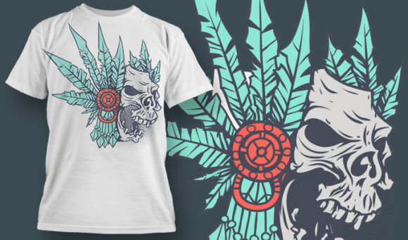 designious-tshirt-design-1481 T-shirt Designs and Templates t-shirt, vector, indian skull, pop culture