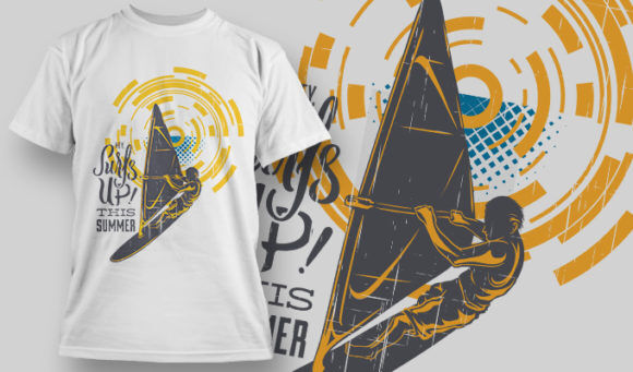 designious-tshirt-design-1482 T-shirt Designs and Templates t-shirt, vector, this summer, surfs up, heat, tropical