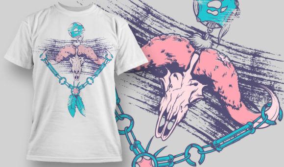 designious-tshirt-design-1486 T-shirt Designs and Templates t-shirt, vector, indian sign, skull, animal skull