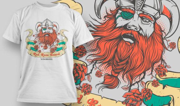 designious-tshirt-design-1488 T-shirt Designs and Templates t-shirt, vector, viking, beard, old,