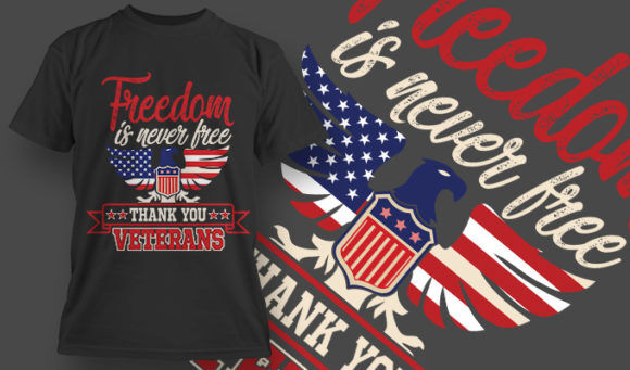 designious-tshirt-design-1509 T-shirt Designs and Templates t-shirt, vector, 4th of july, veterans, thank you, america, USA