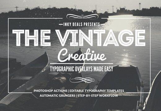Vintage Creative Typographic Collection Typographic Templates typography
