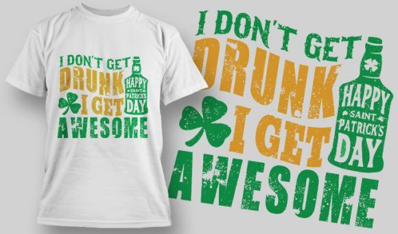 Designious-tshirt-design 1586 T-shirt Designs and Templates lucky