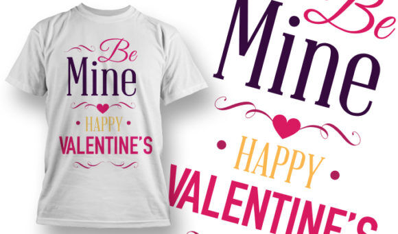 Valentines Day T-Shirt Design 17 T-shirt Designs and Templates vector
