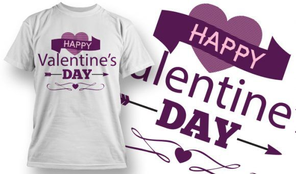 Valentines Day T-Shirt Design 42 T-shirt Designs and Templates vector