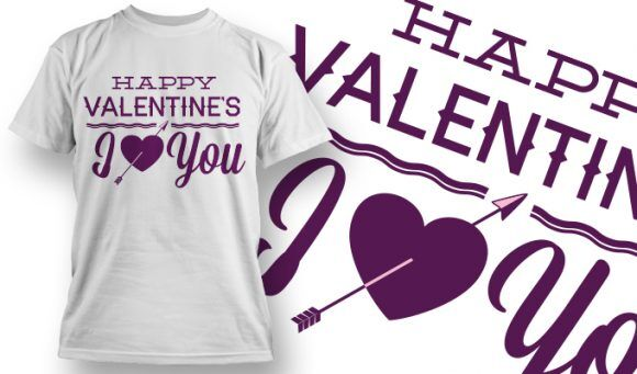 Valentines Day T-Shirt Design 48 T-shirt Designs and Templates vector