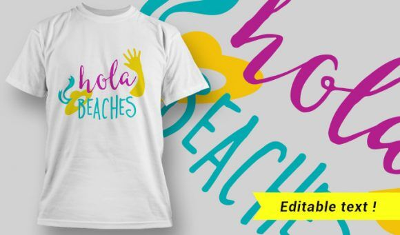 Funny T-Shirt Design 4 T-shirt Designs and Templates vector