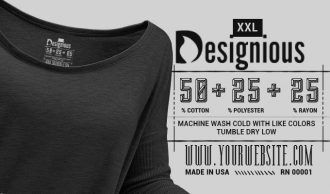 T-shirt Vector Label 3 Typographic Templates vector