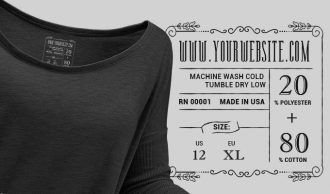 T-shirt Vector Label 4 Typographic Templates vector