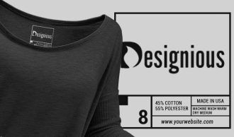 T-shirt Vector Label 6 Typographic Templates vector