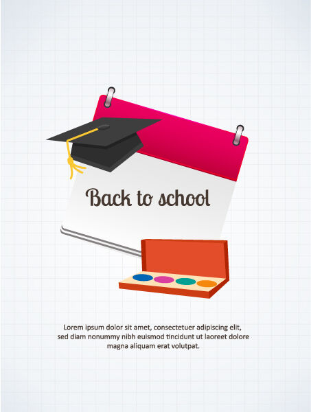 Back to school vector illustration Vector Illustrations vector