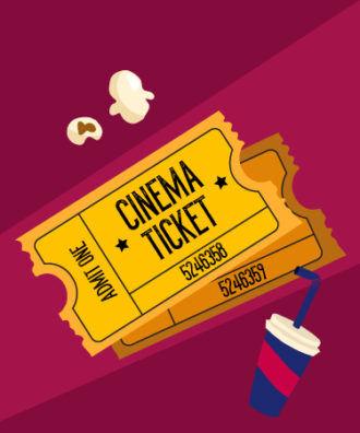 Illustrated flat vector Set Scenes cinema