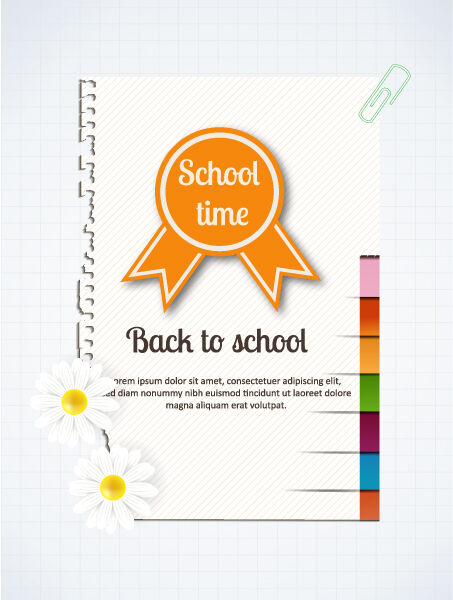 Back to school vector illustration with school badge Vector Illustrations vector
