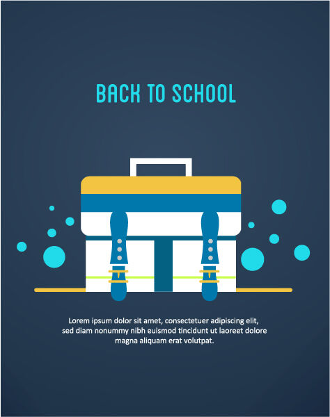 Back to school vector illustration with school bag Vector Illustrations vector