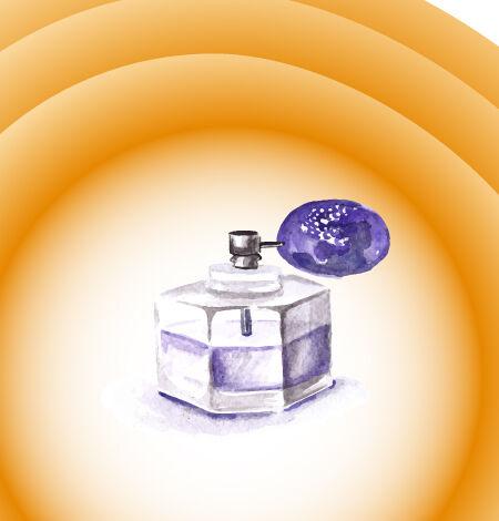 Illustrated flat vector Set Scenes parfume