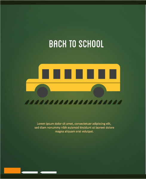 Back to school vector illustration with school bus Vector Illustrations vector