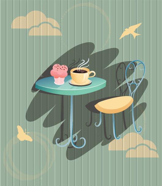 Coffee vector illustration Vector Illustrations chair