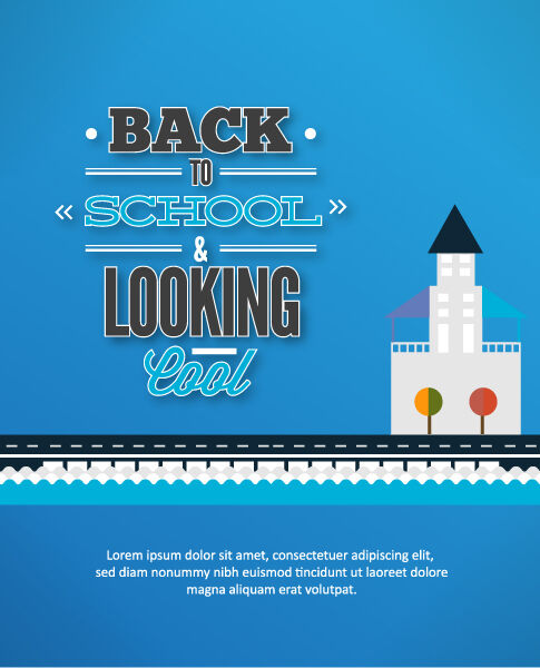 Back to school vector illustration with city Vector Illustrations vector