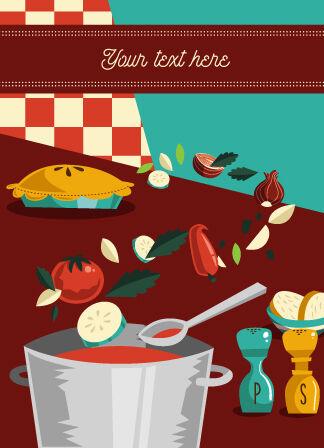Illustrated flat vector Set Scenes menu