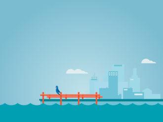 Illustrated flat story Vector Illustrations summer