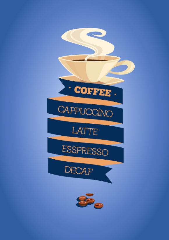 Illustrated flat vector Set Scenes coffee