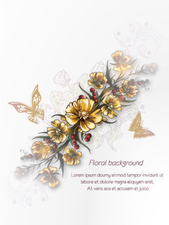 floral vector background Vector Illustrations floral