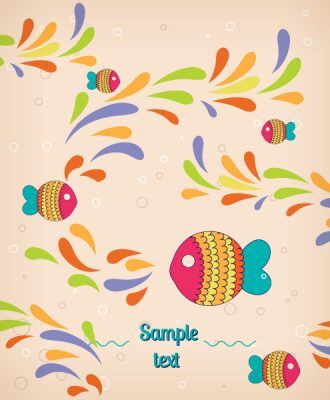 Vector background illustration with fish, Vector Illustrations urban