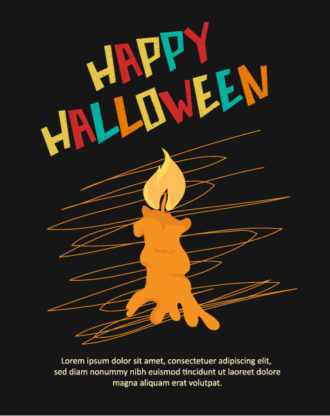 Halloween Vector illustration with candle Vector Illustrations star