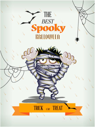 Halloween Vector illustration  with zombies Vector Illustrations vector