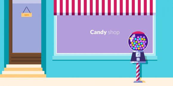 Candy Shop Vector Illustration Vector Illustrations vector