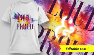 T-shirt design 1639 T-shirt Designs and Templates colorful