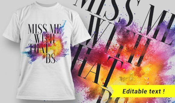 T-shirt design 1643 T-shirt Designs and Templates colorful