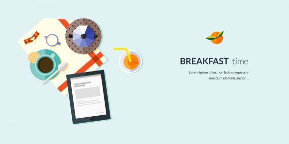 Breakfast Flat Style Vector Illustration Vector Illustrations vector