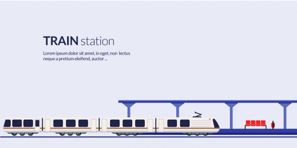 Train Station Vector Illustration Vector Illustrations vector