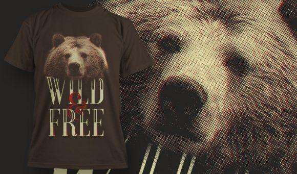 T-shirt design 1623 T-shirt Designs and Templates animal
