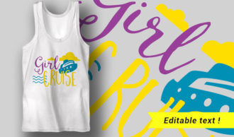 Girl Cruise T-shirt Designs and Templates summer