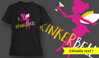 T-shirt Design 2 – DrinkerBell T-shirt Designs and Templates vector