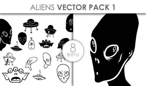 Aliens Pack 1 Vector packs vector